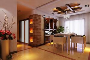 现代风格两居室精致餐厅吊顶设计装修效果图