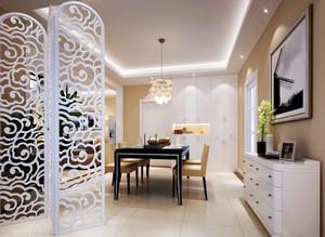 简欧风格大户型室内餐厅隔断设计装修效果图