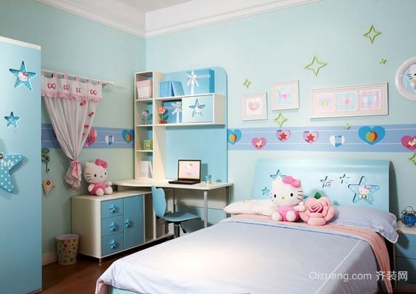 简约风格helloKitty主题儿童房装修效果图大全