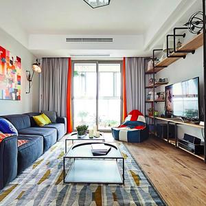 时尚个性混搭风格两室两厅室内装修效果图赏析