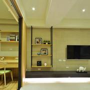 宜家风格简约客厅隔断设计装修效果图