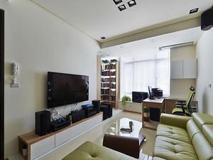 86平米现代简约风格三室两厅室内装修效果图案例
