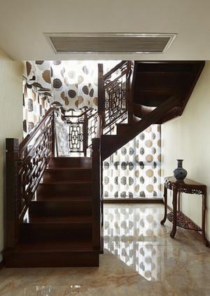 中式风格别墅楼梯设计装修效果图