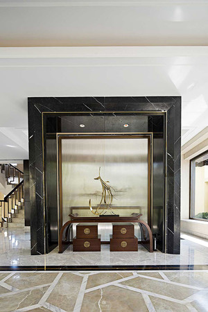 300平米中西混风格别墅室内装修效果图实例