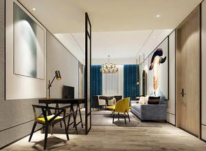 56平米现代风格精致宾馆客房装修效果图赏析