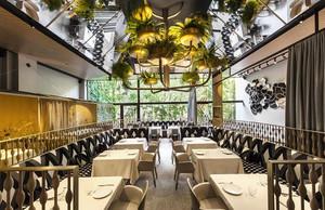 200平米简欧风格西餐厅设计装修效果图