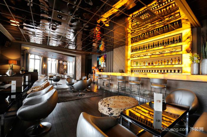 160平米后现代风格主题酒吧卡座装修效果图