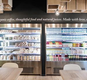 现代风格精致咖啡厅展柜设计装修效果图