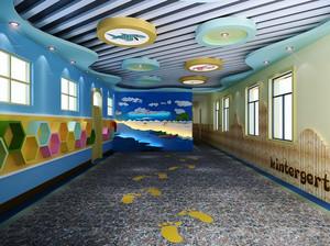 100平米现代简约风格幼儿园环境布置装修效果图