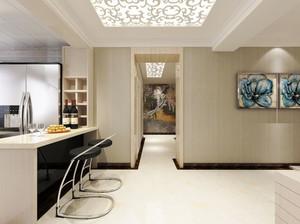 现代风格大户型室内精致吧台设计装修效果图