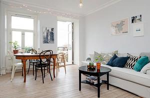63平米北欧风格简约一居室小户型装修效果图