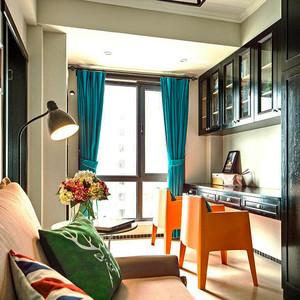 缤纷色彩个性混搭风格三室两厅装修效果图案例