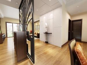 简约中式风格大户型室内隔断设计装修效果图