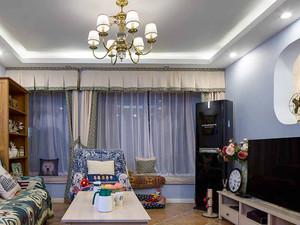 美式混搭风格三室两厅两卫装修效果图案例赏析