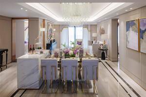 简欧风格大户型室内精美餐厅装修效果图