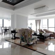 简欧风格大户型室内精致客厅装修效果图