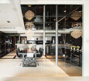简约风格大户型室内餐厅吊顶设计装修效果图