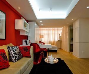 91平米现代风格时尚酒店式公寓装修效果图