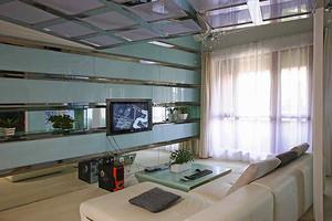 76平米现代简约风格个性时尚loft装修效果图赏析