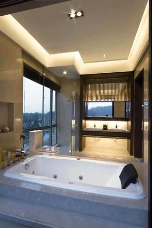 200平米中式风格简装别墅室内装修效果图案例