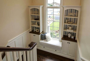 欧式风格别墅楼梯飘窗设计装修效果图