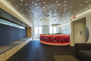 现代风格办公室公司前台设计装修效果图赏析