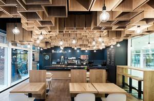 64平米简约创意咖啡厅装修效果图赏析