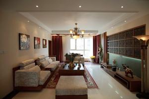 120平米东南亚风格简装室内装修效果图赏析