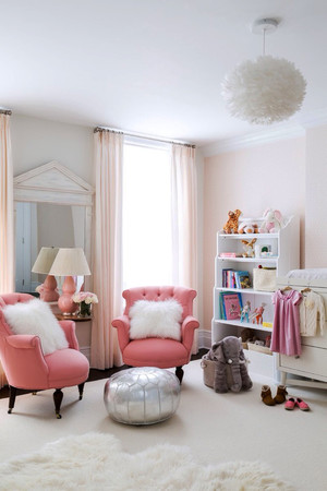 简欧风格温馨粉色婴儿房装修效果图赏析