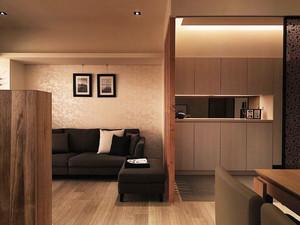 现代风格小户型客厅隔断设计装修效果图