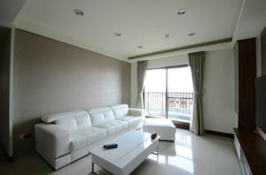 现代风格纯白小户型客厅沙发装修效果图