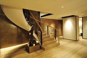 欧式风格旋转楼梯装修效果图赏析