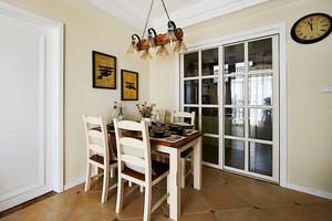 96平米美式田园风格两室两厅室内装修效果图