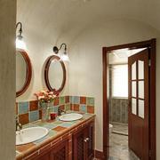 美式风格大户型室内卫生间浴室柜装修效果图