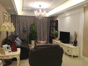 86平米欧式风格精装一居室室内装修效果图