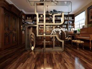 中式风格大户型精致室内书房设计装修效果图