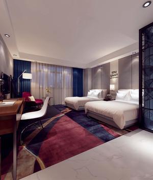 55平米现代风格宾馆客房装修效果图赏析