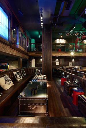 100平米美式风格酒吧装修效果图