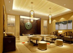 新中式风格美容院包厢设计装修效果图