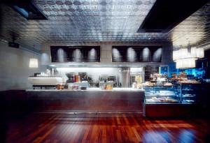 60平米后现代风格咖啡厅柜台设计装修效果图