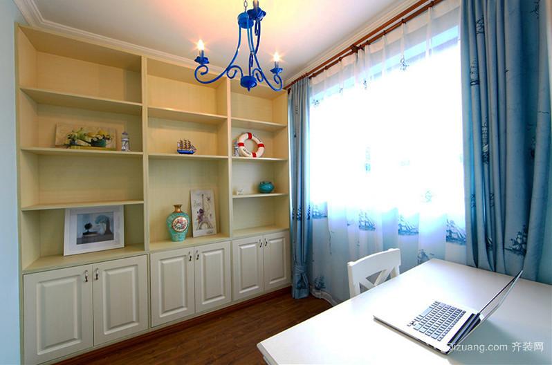 100平米蓝白经典地中海风格室内装修效果图赏析
