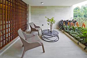 后现代风格大户型阳台花园设计装修效果图