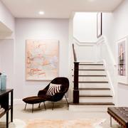 现代美式风格复式楼梯装修效果图鉴赏