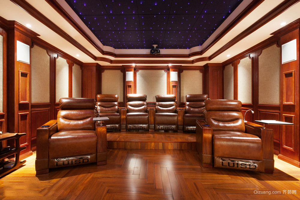 美式风格大户型室内家庭影院装修效果图赏析