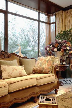 216平米古典欧式风格别墅室内装修效果图案例