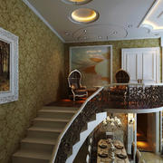 欧式风格精致典雅别墅楼梯装修效果图赏析
