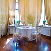 欧式田园风格别墅室内精美餐厅窗帘装修效果图赏析