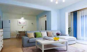 74平米清新风格简约两室一厅装修效果图赏析