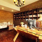 古典欧式风格大户型室内书房设计装修效果图