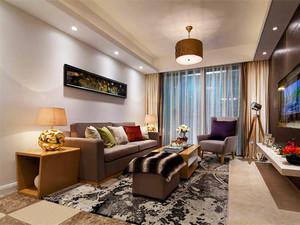 120平米新中式风格简装三室两厅一卫装修效果图案例